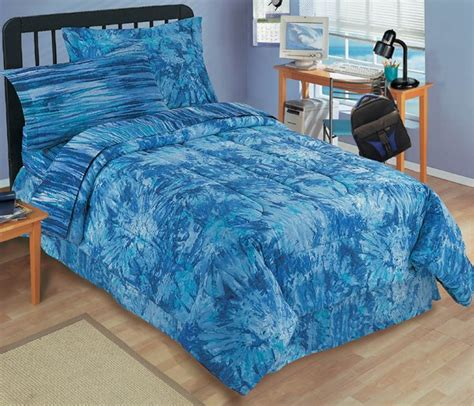 Bright Blue Comforter Set by New Tie Dye Bright Blue Bedding Mini Bed Set