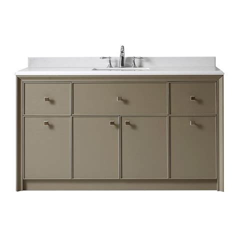 Martha Stewart Bathroom Vanities Martha Stewart Living Parrish 60 In W X 22 In D Vanity In With Marble Top In Yves