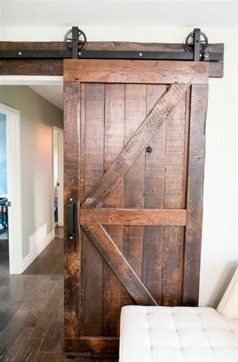 20 Awesome Sliding Doors With Rustic Accent Home Design Sliding Barn Door For House