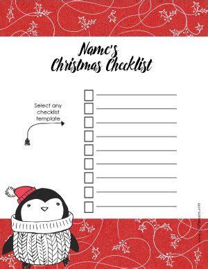 christmas list template customize  print  home