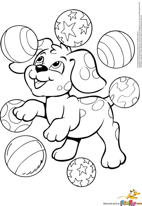 free coloring pages of e of a puppy