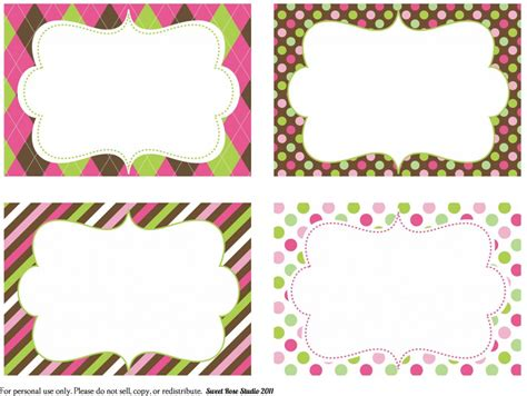 8 best images of free printable birthday label templates