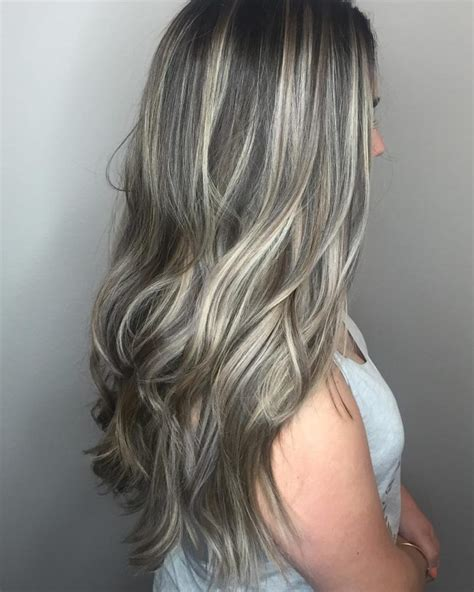 gray streak in hair gray hair with black streaks dark brown hairs