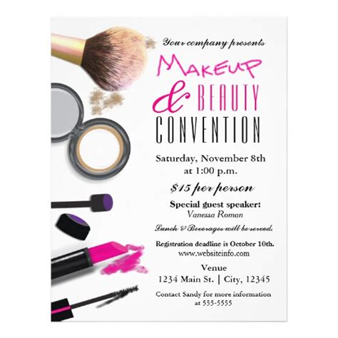 how to make promotional flyers makeup amp beauty chic glam event flyer poster zazzle
