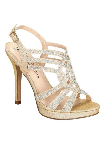 Dress Viva2 by Blossom Strappy Platform Sandal David S Bridal