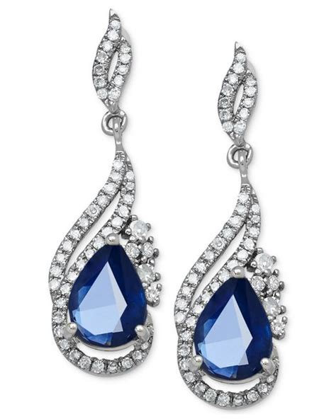 Blue Sapphire 1 9 Ct macy s sapphire 1 3 4 ct t w and 1 3 ct t w