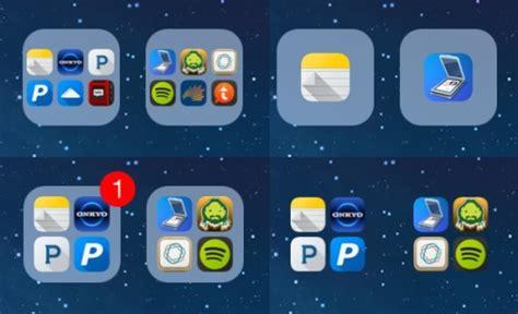iphone icon layout change tinygrid cydia tweak customize the folder mini grid on