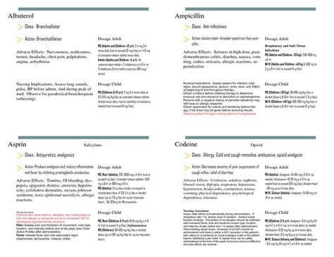 Pharmacology Cards Template by Pharmacology Cards Nursing Students Html Autos Post