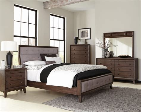 panel bedroom sets bingham brown oak panel bedroom set from coaster coleman