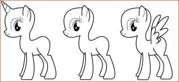 Mlp Template by My Pony Template Proposalsheet