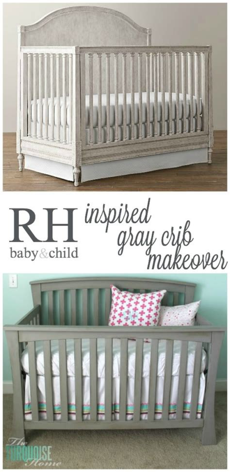 Restoration Hardware Baby Crib Beautiful Gray Crib Makeover With Sloan Chalk Paint The Turquoise Home