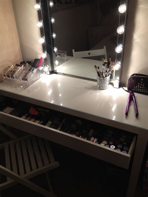 Bedroom Makeup Vanity With Lights Makeup Vanity For A Makeup Style Vanity Done Entirely From Ikea Malm Dressing