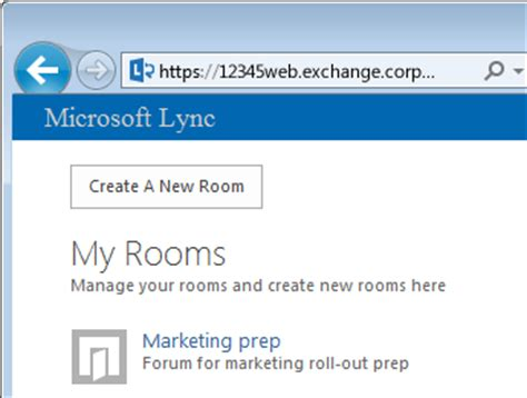 Create Chat Room by Create And Manage A Lync Chat Room Lync