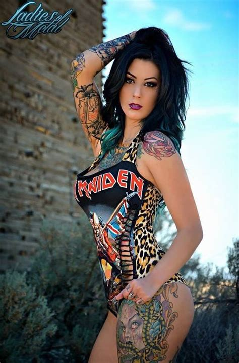iron maiden swimsuit tattoos pinterest girls