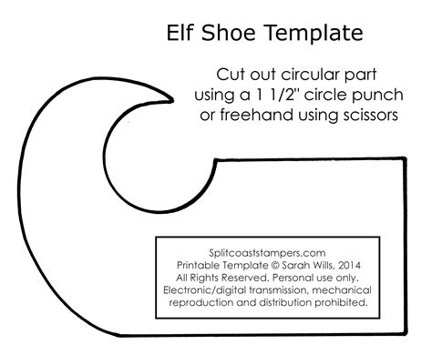 printable elf boots best photos of templates to make elf shoes elf shoe