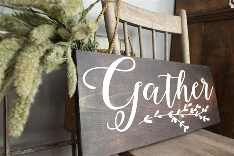 Dining Room Signs by Large Gather Eat Laugh Sign Dining Room Signs