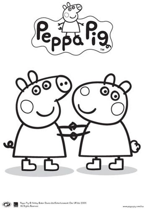 peppa pig and friends coloring pages 17 best ideas about peppa pig colouring on pinterest