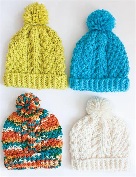 knitting pattern hat scarf mittens bernat chill chaser set hat mittens cowl knit pattern
