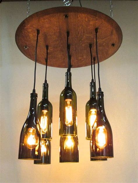 9 light wine bottle barrel top chandelier ceiling