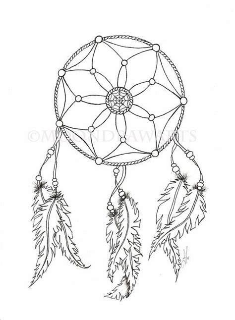 free printable coloring pages dream catchers dream catcher printable coloring page adult by