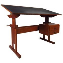 Black Drafting Table Mid Century Black Top Drafting Table At 1stdibs