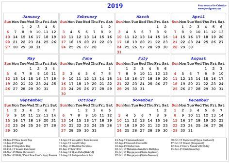 hindu calendar  tithi tyohar holidays festivals printable calendar