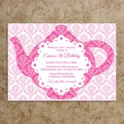 tea invitation diy printable pdf tea by designswithstyle