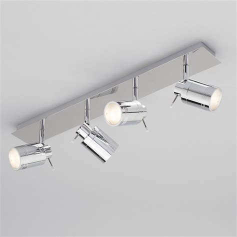 bathroom light bars chrome hugo 4 light bathroom ceiling spotlight bar chrome from