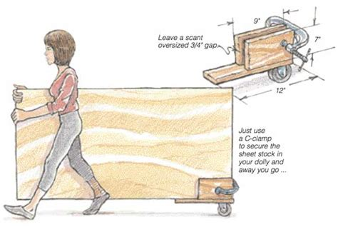 sheet dolly woodworking blog  plans