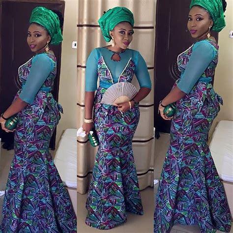 Le Viel Batik Mermaid Skirt Gold lovely aso ebi styles lace and ankara styles