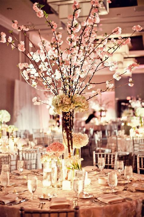 cherry blossom arrangements cherry blossom centerpieces by petal productions reminds me of wedding