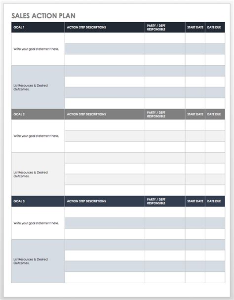 top 4 resources to get free sales plan templates word templates