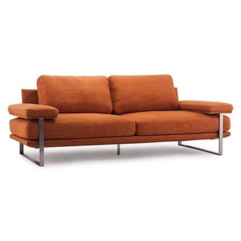 modern digs furniture jonkoping sofa sunkist orange modern digs furniture