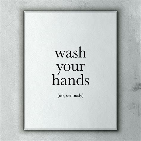 funny bathroom wall art funny bathroom art wash your hands no seriously