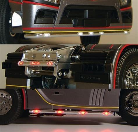 1 14 Tamiya Rc Truck Scania Side Lightbar For 4x2 170mm markeringlys eu lastbiler krom s 230 t med led