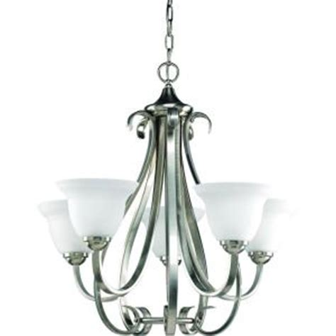Dining Room Chandeliers Home Depot Progress Lighting Torino Collection 5 Light Brushed Nickel