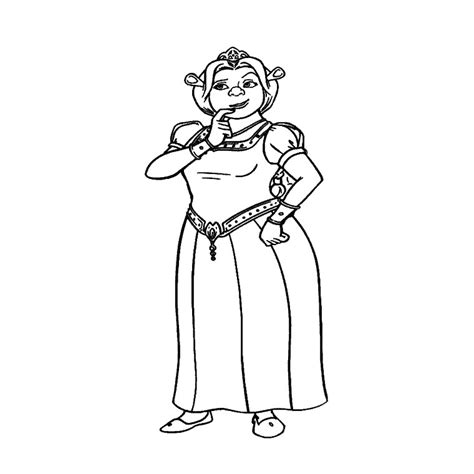 Coloriage Ogresse A Imprimer Gratuit Princess Fiona Coloring Pages Free Coloring Sheets
