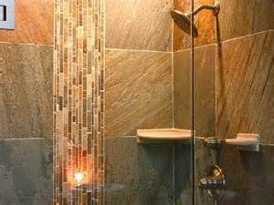 small bathroom tile ideas brown stone tiles oval steel framed mirror designs design trends