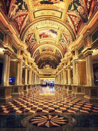 corridor from front desk to casino elevators etc