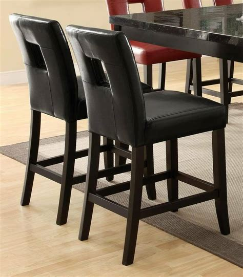 newbridge black vinyl counter height stool chair  coaster blk set   ebay