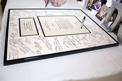 picture frame guest book instead of a guest book could sign a framed
