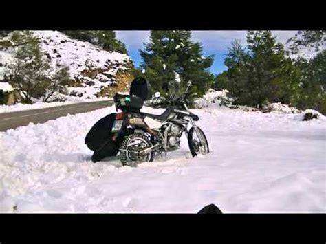 cadenas moto nieve cadenas de nieve para moto youtube