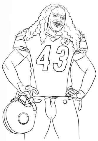 super coloring pages nfl troy polamalu coloring page free printable coloring pages