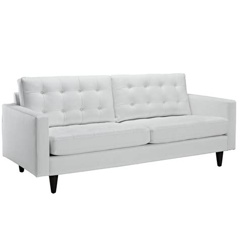 contemporary tufted sofa empress contemporary button tufted leather sofa white