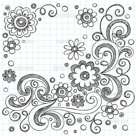 background design doodle doodles flowers sketchy doodles back to school vector