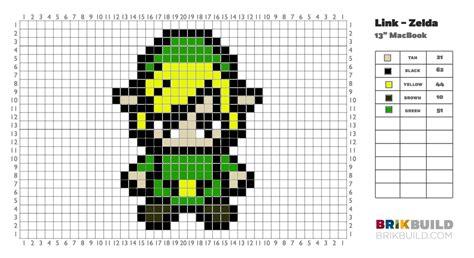 pixel link zelda brik case pixel art gallery