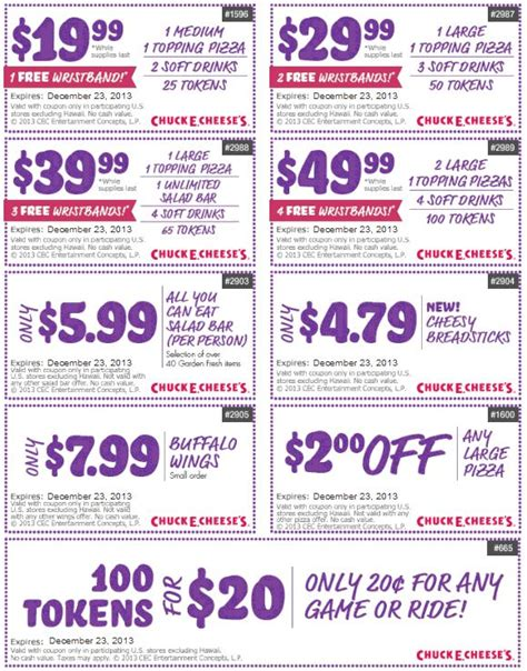 printable pizza tickets pinned december 9th 100 game tokens for 20 and more at