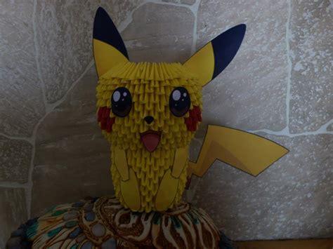 Pikachu 3d Origami - pikachu origami 3d by agonza95 on deviantart
