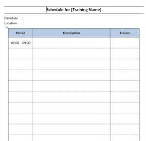 word schedule template schedule template free microsoft word templates