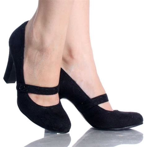 high heeled janes black suede button moccasin stitch womens high